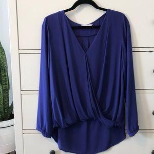Wrap front blouse